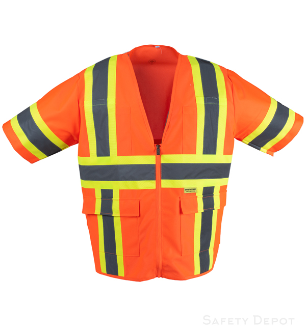 Orange Reflective Safety Vest MAIN