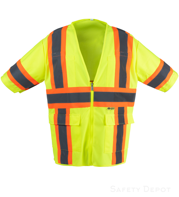 Lime/Yellow Safety Vest Class 3 MAIN