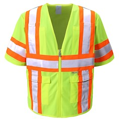 lime Safety Vest Class 3 THUMBNAIL