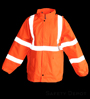 Class 3 Orange Reflective Rain Coat SWATCH