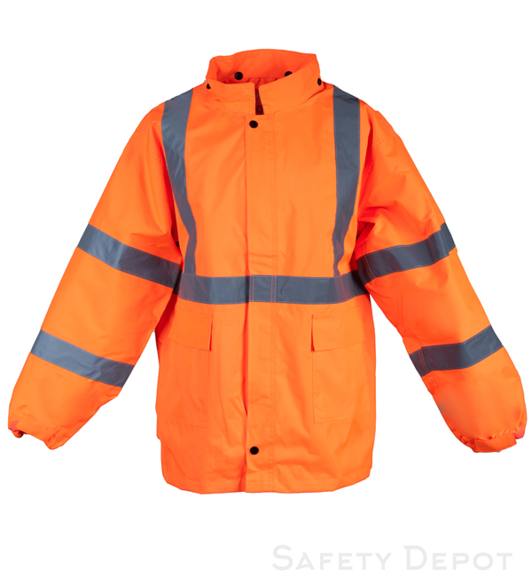 Class 3 Orange Reflective Rain Coat MAIN