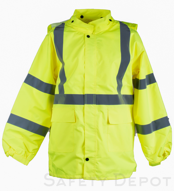 aliexpress more photos best quality Yellow Reflective Rain Gear