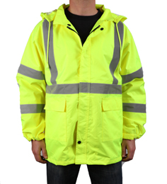 Yellow Reflective Rain Gear