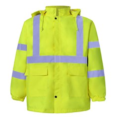 Yellow Reflective Rain Gear THUMBNAIL