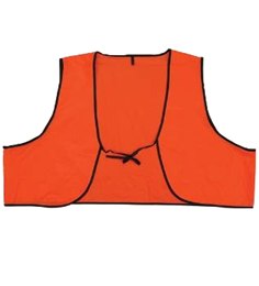 Disposable Orange Safety Vests THUMBNAIL