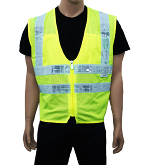 Class 2 safety vest Mesh Reflexite tape