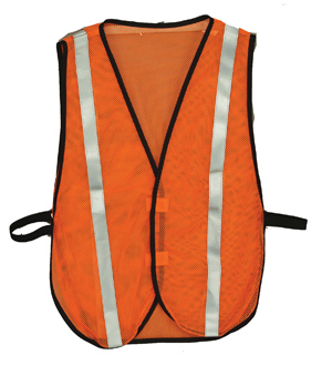 Orange Reflective Economy Safety Vest