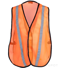 Orange Reflective Economy Safety Vest THUMBNAIL