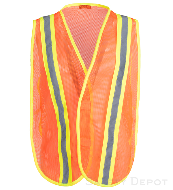 Orange Reflective Economy Safety Vest MAIN