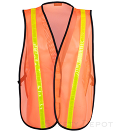 Orange Reflective Economy Safety Vest_THUMBNAIL