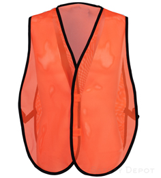 Orange Mesh Economy Safety Vest THUMBNAIL