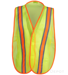 Yellow Economy Safety Vests THUMBNAIL