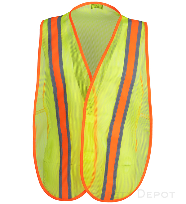 Yellow Economy Safety Vests MAIN