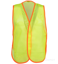 2W International Yellow Economy Safety Vest THUMBNAIL