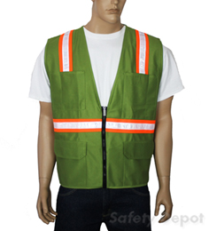 Olive Green Safety Vest