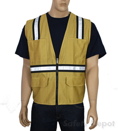 Tan Safety Vest