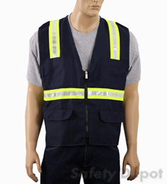 Navy Blue Safety Vest