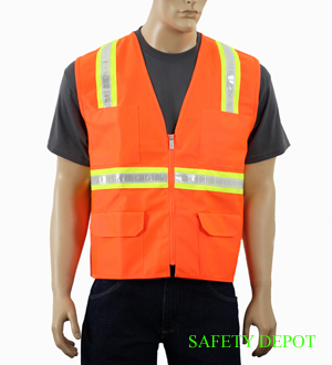 Ladies Orange Reflective Vest