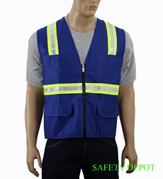 Ladies' Royal Blue Safety Vest