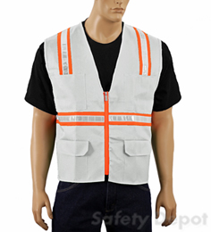 White Safety Vest