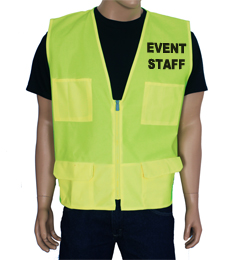 Yellow Event Vest THUMBNAIL