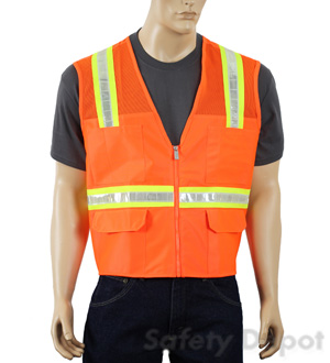 Orange Mesh Safety Vests