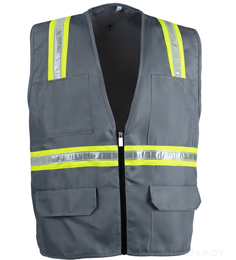 Gray Safety Vest THUMBNAIL