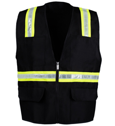 Black Safety Vest THUMBNAIL