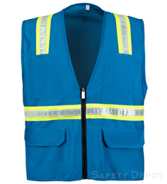 Light Blue Safety Vest