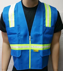 Ladies' Light Blue Safety Vest