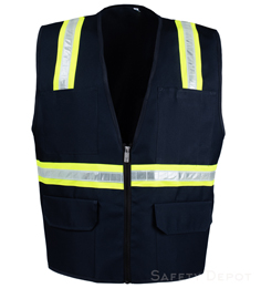 Navy Blue Safety Vest THUMBNAIL