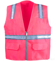 Pink Reflective Safety Vest THUMBNAIL