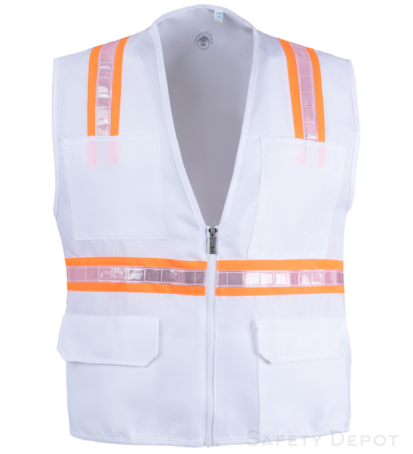 White Safety Vest MAIN