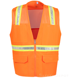 Orange Mesh Safety Vests THUMBNAIL
