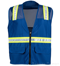 Royal Blue Mesh Safety Vest