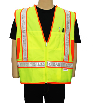 Yellow Lime Reflexite Safety Vest