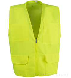 Yellow/Lime Multi-Pocket Vest THUMBNAIL