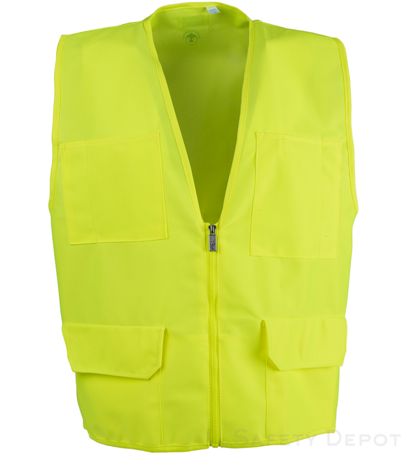 Yellow/Lime Multi-Pocket Vest MAIN