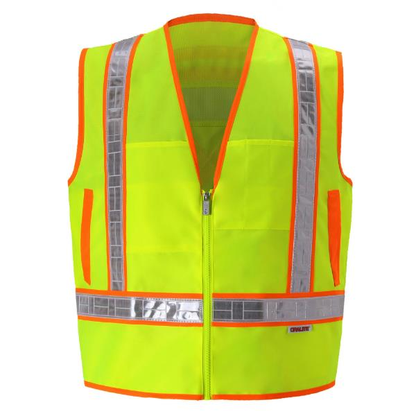 Yellow Lime Reflexite Safety Vest_MAIN