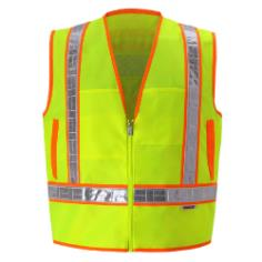 Yellow Lime Reflexite Safety Vest THUMBNAIL