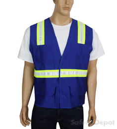 Blue Reflective Safety Vest
