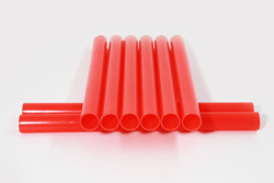 traffic wands day use red round