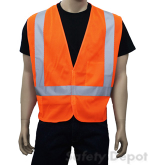 Orange Class 2 Safety Vest  Orange