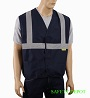 Ladies' Navy Blue Safety Vest Mini-Thumbnail