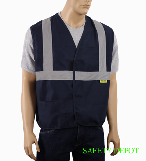 Ladies' Navy Blue Safety Vest