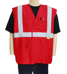 Ladies' Red Safety Vest
