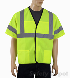 Safety Vest Class 3 Yellow Velcro