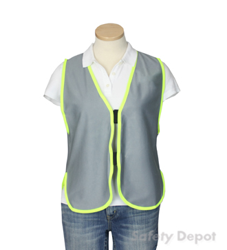 Gray Womens' Safety Vest