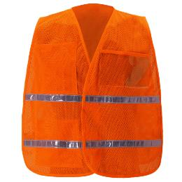 Orange Mesh Incident Command Vest THUMBNAIL