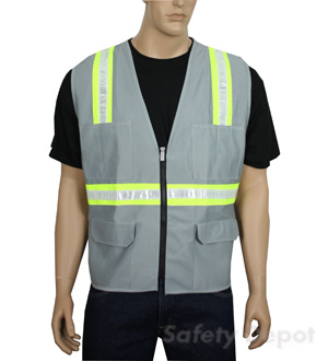 Gray Safety Vest